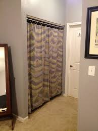 unique grey cotton handmade closet curtains with grey wall color painted also white bedroom doors in grey bedroom designs