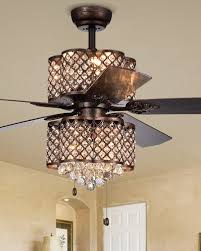 rustic bronze lamped ceiling fan with double light kit fixture