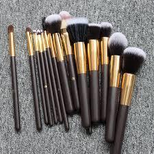 15 pcs makeup brush horse hair brush set with high end gift box velvet bag at best s in stan daraz pk