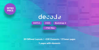 tamplate decode premium hml5 css3 bootstrap 4 template by milothemes
