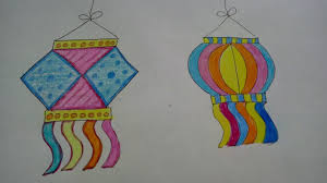 Draw And Colour Diwali Lampskandil How To Craftlas