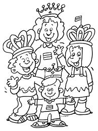 Kleurplaat Oranje Familie 30 April Kleurplatennl
