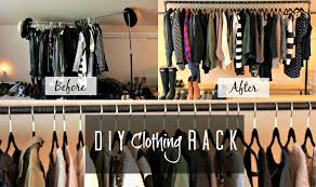 DIY Clothing Rack! | MissFashioneda - YouTube