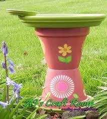 spring themed bird bath 1