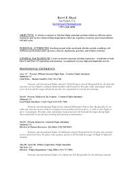 Resume Samples For Flight Attendant Position Free Resume Example