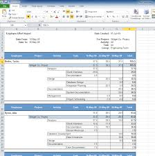 timesheets time and expense tracking software create reports in microsoft excel