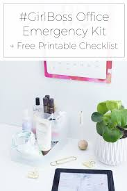 Girlboss Office Emergency Kit + Free Printable Checklist - Stylishly ...