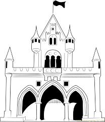 walt disney castle coloring page