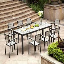 wood and metal dining chairs inspirational lush poly patio dining inspiration with modern wood dining table