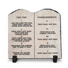 amazon inspiragifts the ten mandments religious inspirational home plaque stone gift 7 8 inch by 7 8 inch king james version home