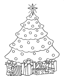 christmas tree with presents drawing. Exellent Christmas Page Of Christmas Tree With Presents Coloring Pages In Drawing