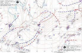 Surface Analysis Chart Noaa Ocean Prediction Center Atlantic Marine