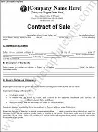 sales contracts sample sales contract