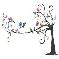 Blue Birds & Tree Designer Vinyl Wall Accents