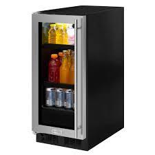 Undercounter Beverage Refrigerator Glass Door 15 Beverage Center