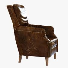chelsea classic man room distressed cigar leather arm chair d