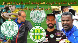افضل تشكيلة الرجاء المتوقعة أمام شبيبة القبائل الجزائري / نهائي كأس  الكونفدرالية الأفريقية - YouTube