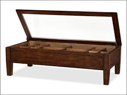 image of wooden top shadow box coffee table