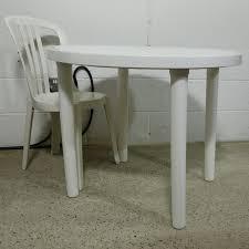 3 white round patio table
