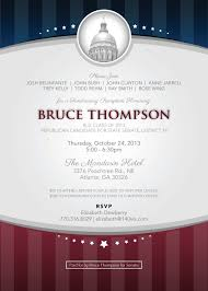 political fundraiser invite brucethompsoninvitation jpg 576 806 pixels campaign ideas