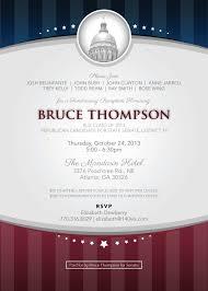 political fundraiser invite brucethompsoninvitation jpg 576 806 pixels campaign ideas