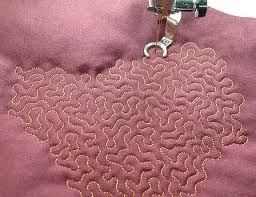 fabric pattern | Design Pix of the Week | Pinterest | Stippling ... & stipple stitch quilting The link is to a video of this machine stitched  quilting technique. The idea is that the random shapes are echoed . Adamdwight.com