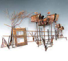vintage copper wall art sculpture beachcomers by shootingcreek 145 00 on metal wall art beach scenes with reserved for mark vintage retro copper street scene sidewalk bar