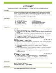 Example Marketing Job Cover Letter Resume Sample Entry Level