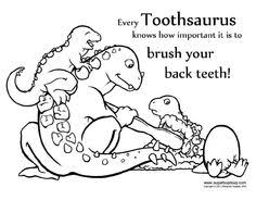 Small Picture Printable Dental Coloring Pages Dental Stuff Pinterest