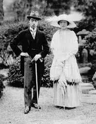 「1924年 - 皇太子裕仁親王(後の昭和天皇)と良子女王(後の香淳皇后)が結婚。」の画像検索結果