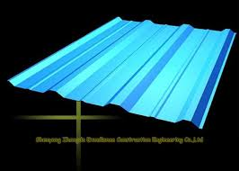long span color coated metal corrugated roofing sheets ppgi roof steel panels