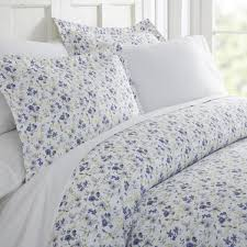 becky cameron blossoms patterned performance light blue twin 3 piece duvet cover set