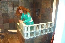 glass block designs for bathrooms doorless shower glass block designs for bathrooms doorless shower