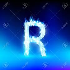 cool letter r letter r with blue fire royalty free cliparts vectors and stock