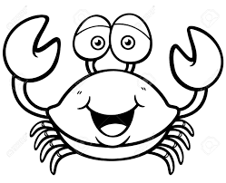 Small Picture Crab Black And White Coloring Coloring Pages