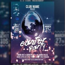 Easter Party Night Template For Free Download On Pngtree