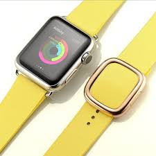 modern buckle genuine leather watch band for apple watch series 4 3 2 1