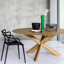 japanese inspired wooden dining table round
