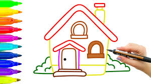 Small Picture House Drawing and Coloring for Kids How to Learn to Draw and