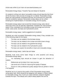 calam atilde copy o renewable energy essay powerful tips and ideas for students renewable energy essay powerful tips and ideas for students