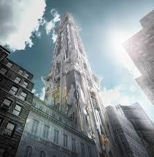 architecture blueprints 3d. Architecture Building Skyser Blueprints Digital Art 3d Object Render Cgi New York City Usa Worms Eye
