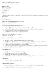 Front Office Manager Resume Template Resumes For Jobs Sample Of Best Office Manager Resume
