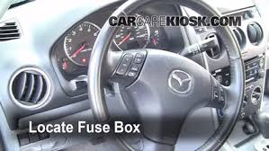 interior fuse box location mazda mazda s  interior fuse box location 2003 2008 mazda 6 2004 mazda 6 s 3 0l v6 wagon 5 door