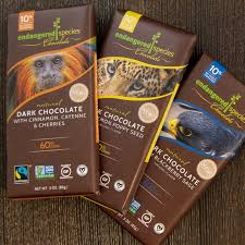 fancy chocolate brands. Delighful Brands Fair Trade Chocolate Brands  Endangered Species Inside Fancy O