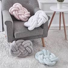 soft long knotted pillow home decorative pillows chair seat sofa cushion baby bed braid per plush