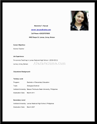 Delighted Resume Sample Biodata Form Philippines Pictures