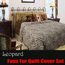 Leopard Printed Faux Fur Animal Quilt Cover Set DOUBLE QUEEN KING ... & Printed Faux Fur Leopard Quilt Cover Set by Shangri La Adamdwight.com