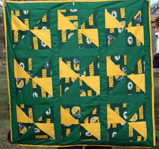 9 best Green bay packers images on Pinterest | Baby quilts, Boy ... & Green Bay Packer Baby Quilt by Americarican1 on Etsy, $32.00 Adamdwight.com