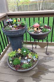 Fairy gardens often use rocks to color or for stepping stones. They also  use small