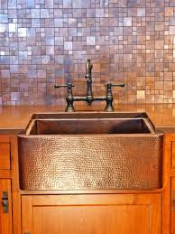 Kitchen Backsplash At Lowes Decor Tips Copper Farmhouse Sink And Bridge Faucet With Copper
